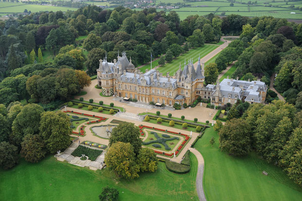Waddesdon Manor, the French Renaissance-style château built by the Rothschild's in the 1880s ©Sotheby's ~ How would you like to maintain this landscaping?